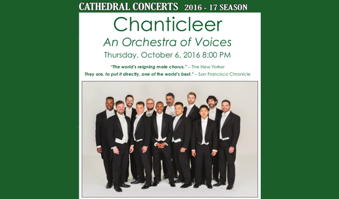 Chanticleer in Concert Thurs. Oct. 6